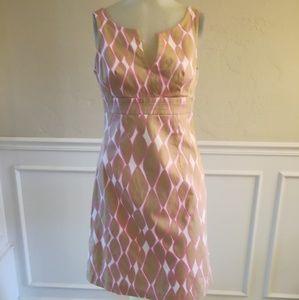 Trina Turk brown and pink print dress